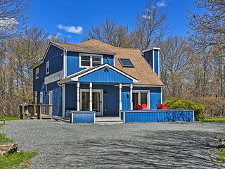 NEW! Peaceful Long Pond Home w/ Private Hot Tub!