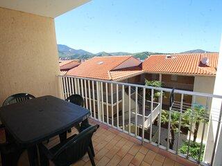 Appartement F2, terrasse, 4 pers, accès wifi, parking dans la résidence