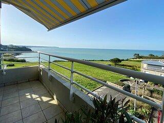 Appartement splendide vue mer, 300m plage, balcon, residence privee