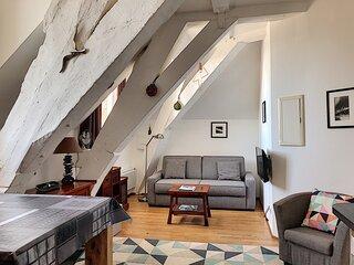 Bel appartement dans residence de la Haute-ville, 200m plage