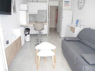 Studio avec terrasse en résidence bord de mer