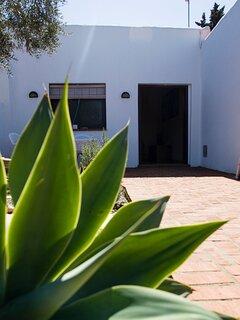 Terraza y entrada apartamento