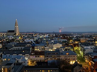 Luxury apartment downtown Reykjavik with stunning view over the city.