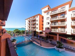 Estudio vista mar e piscina Resort Pe na Areia JBV134