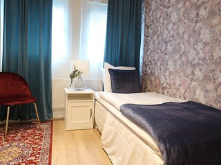 Best location in Sodermalm Stockholm, comfy guest room single bed 10m 2