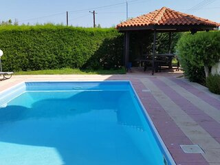 Deluxe Villa with sea view and swimming pool in Polis area, affordable rates