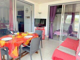 Appartement proche plage secteur Lydia climatisation 4CAB29