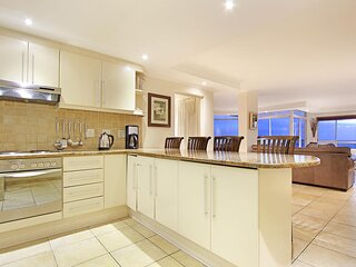 Open plan kitchen and living area.