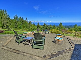 NEW! Picturesque Port Angeles Cabin w/ Fire Pit!