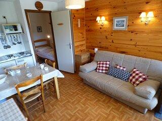 Studio cabine + alcove 24 m², orienté SUD, classé 1*