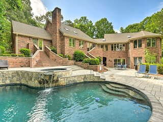 NEW! Luxe Mooresville Manor w/ Pool & Lake Access!
