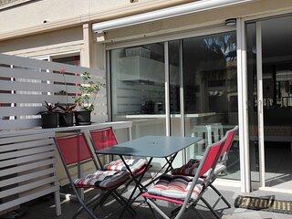 Studio avec terrasse ombragée pour 2 personnes