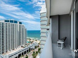 Fort Lauderdale Modern Luxury Water View Condo, Spacious Balcony, Ocean Views
