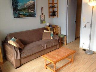 Studio cabine 5/6 personnes avec parking couvert, résidence Mongie Hebdo