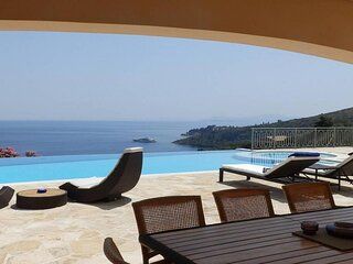 Luxury Villa Penelope with pool at Kerasia, Corfu, Greece