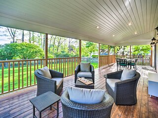 NEW! Peaceful Family Home w/ Fire Pit & Large Yard