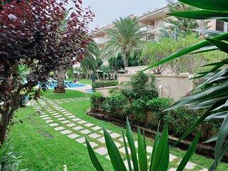 Javea Arenal   groundfloor Apt with terrace   2 bedr   airco   wifi   pool  