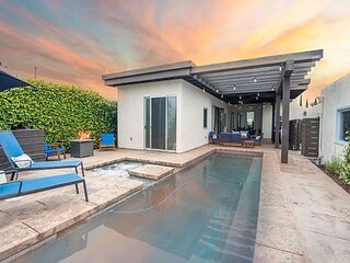 Luxe Main House & Guest House   Heated Pool, Chef's Kitchen, Walkable Locale