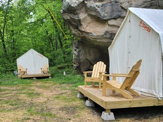 Tentrr State Park Site - WV - Hawk's Nest State Park - Site A - Double Camp