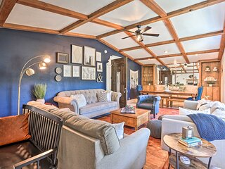 NEW! Boho-Chic Home w/ Game Room Near Lake Gregory