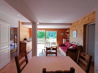 Charmant 2p cabine pour 6, entièrement rénové, terrasse et très belle vue, Pra