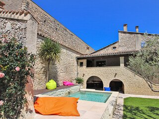 Nice home in Bourg st Andeol with 3 Bedrooms (FRA175)