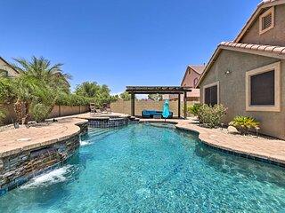 NEW! Desert Retreat w/ Outdoor Oasis + Pool Table!
