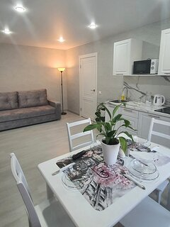 New apartments - bedroom,  studio room, small kitchen,  bathroom with shower