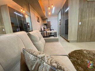 #2303O#Lindo studio todo mobiliado e decorado com wifi e garagem