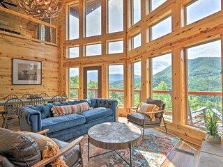 NEW! 'Mountain Dew' Cabin w/ Hot Tub & Mtn Views!