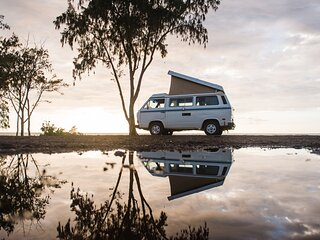 See Hawaii your way in a Classic VW pop top Camper Van