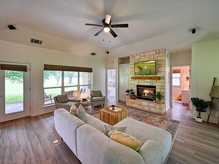 Spacious Hill Country Haven | Fireplace, Patio, Golf Course Views