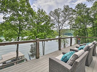 NEW! Inviting Family Abode w/ Dock on Norris Lake!