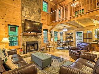 NEW! Blairsville Cabin w/ Fire Pit Near 2 Lakes!