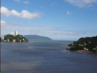 Kitnet beira-mar e com linda vista em Sao Vicente