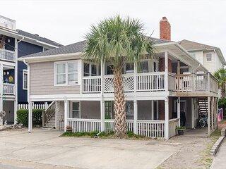 Classic family friendly oceanside duplex with wraparound porch