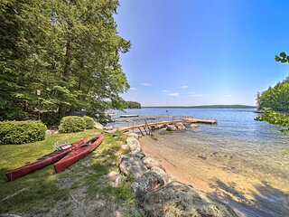 NEW! Sebago Lake Gem on Private Cove w/ Boat Dock!