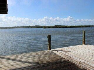 839G - Riverfront home, walk to beach