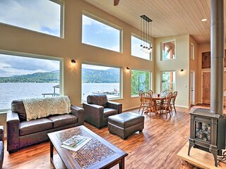 NEW! Lake Whatcom House: Boat Dock + Mountain View
