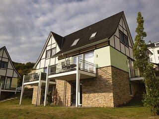 Semi-detached, nice villa with sauna, near a lake
