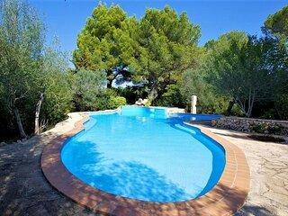 Sun-kissed villa in S' Espinagar with a private pool