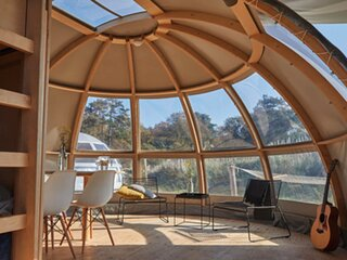 Cozy tent with bathroom, under the stars of Twente