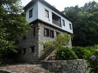 Traditional house on Mouresi, Pelion, Greece