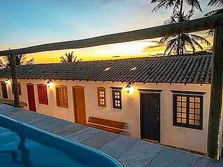 Suite na Pousada Vila Sol Maior no ES com lazer