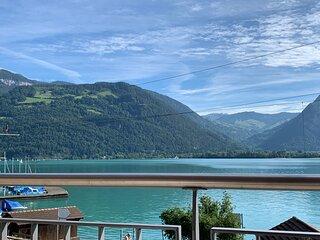 Ferienwohnung mit freier Seesicht; fur max. 4 Personen, grosser Balkon