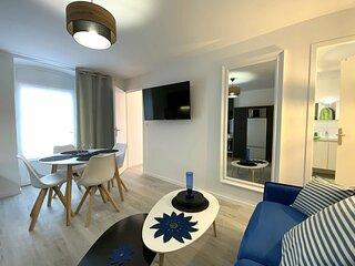 Au Val-André, charmant appartement rénové et décoré avec goût,