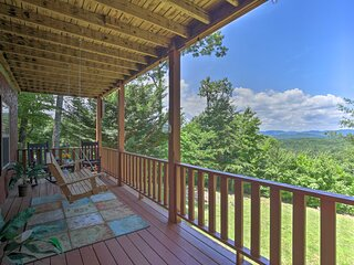 NEW! Picturesque Murphy Cabin w/ Fire Pit & Views!
