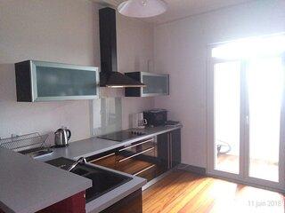 Appartement 3 pieces avec 2 chambres, 6 a 8 personnes