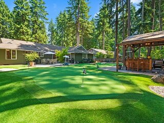 Phenomenal Single Level Home Featuring Incredible Outdoor Golf Option w/ Gazebo,