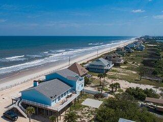 Beachfront Sapphire | Luxe Stilted Home, Expansive Deck, Ocean & Estuary View
